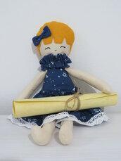 Bambola di stoffa - Bambola di pezza - Bambola fatta a mano