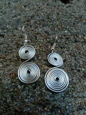 Orecchini spirale wire in alluminio
