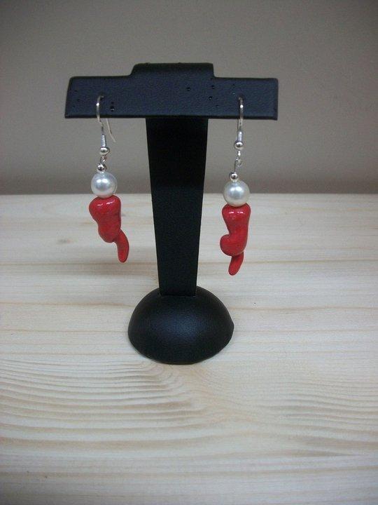 orecchini in fimo peperoncini rossi