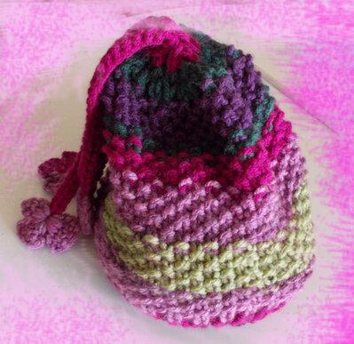 Cappello slouchy, cappellino donna, lana, ferri, berretto lungo, oversize