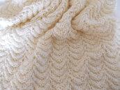 Copertina in pura lana, copertina neonato, culla, bimbo, copertina ai ferri