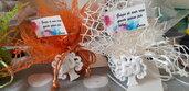 Bomboniera completa magnete albero della vita 50°anniversario compleanno
