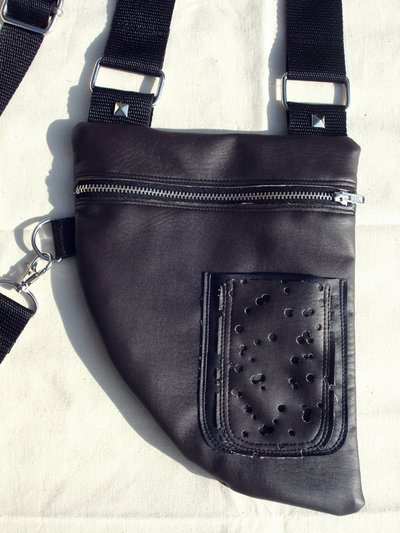 MooN bAg_holster similpelle cioccolato+nero