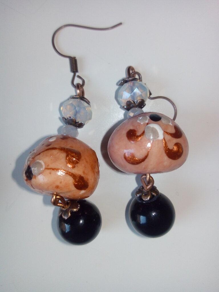 Orecchini pendenti perla grande