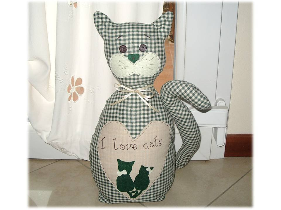 Gatto fermaporta I LOVE CATS