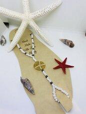 Cavigliera spiaggia etnica con perline