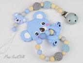 Porta ciuccio personalizzabile + bracciale dentizione/Catena porta ciuccio/Regalo bébé
