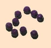 9x perle sfaccettate plastica VIOLA SCURO - purple