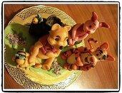 Cake Topper Winnie the Pooh, Pimpi e Tigro