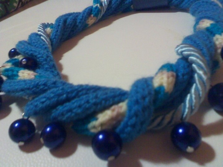 collana lana e perline