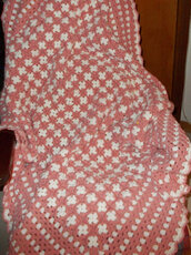 Coperta uncinetto, plaid, granny square, crochet, coperta in lana,