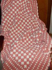 Coperta uncinetto, plaid, granny square, crochet, coperta in lana,