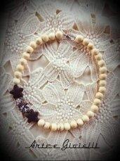 OFFERTA! Collana corallo bambù bianco