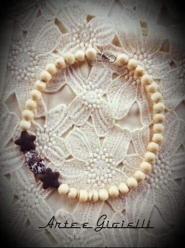 Collana corallo bambù bianco
