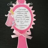 Inviti specchio partecipazioni invito compleanno principessa principesse battesimo nome bimba