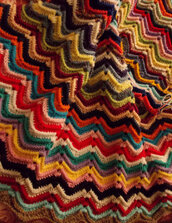 Coperta uncinetto, plaid, granny square, crochet, coperta in lana, chevron