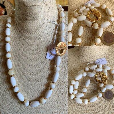 Collana di Conchiglia Bianca e Oro