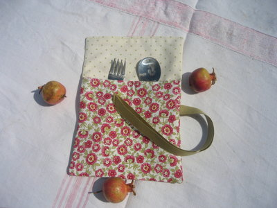 Porta merenda con porta posate
