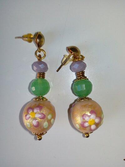 Orecchini perle pasta di mais