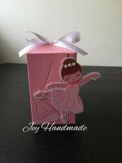 Scatolina ballerina ballerine danza vestito vestitino scarpette fiocco bomboniere bomboniera porta confetti