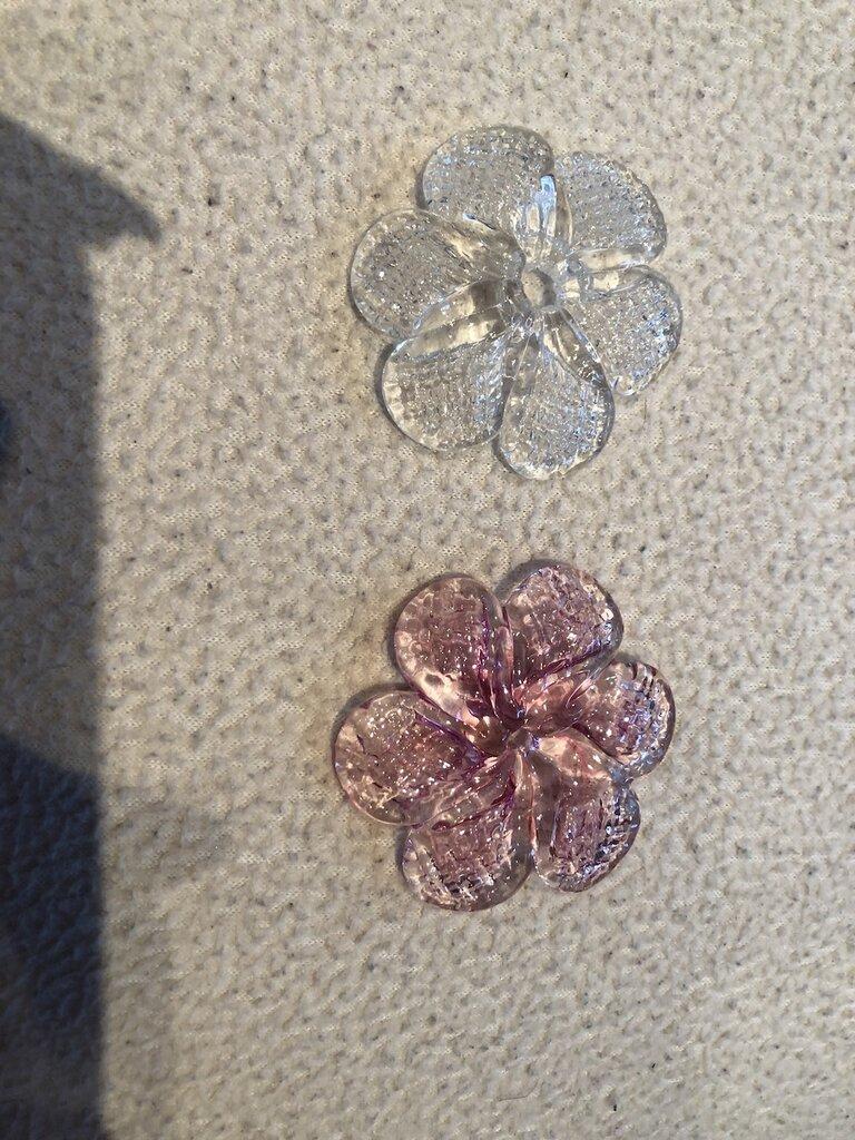 Rosette, rosa e cristallo, ricambi per specchi