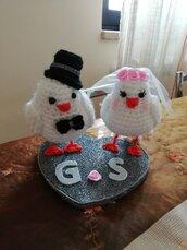 Coppia colombi sposi