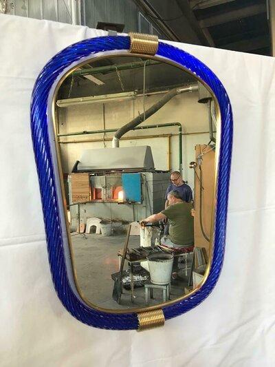 Specchi , in vetro soffiato di Murano