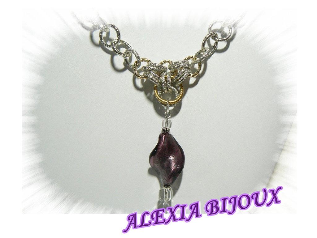 Collana chain mail oro e argento