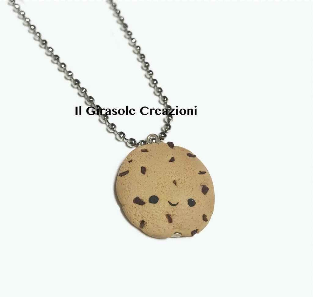 Collana biscotto cookie kawaii in fimo