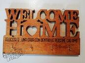 Appendichiavi legno sweet home con incisione personalizzata
