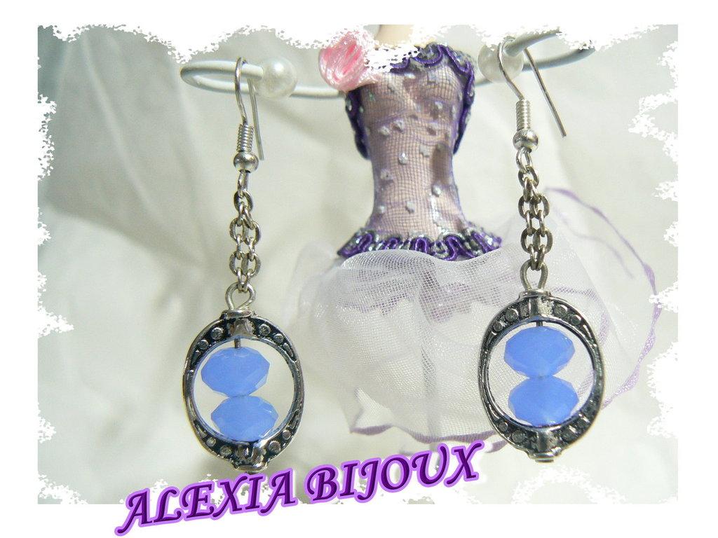 Orecchini cristalli azzurri