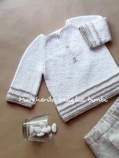Maglia bambino/maglietta neonato Battesimo - lino e cotone - fatta a mano - coreana