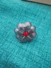 anello fiore in resina