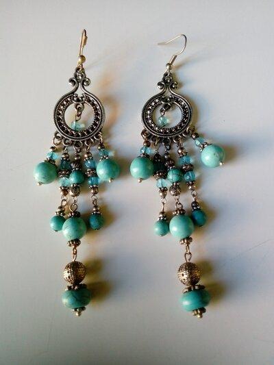 Orecchini pendenti turchese