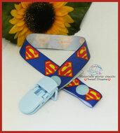 Portaciuccio con nastro grosgrain *Superman*