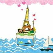 Carillon Musicale in Legno - Tour Eiffel