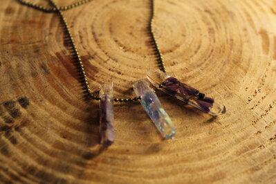 collana con cristalli