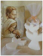 Saponetta angelo segnaposto bomboniera battesimo comunione