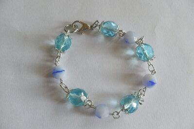 Bracciale azzurro e bianco-blu
