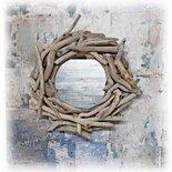*Specchio OBLO' con legni di mare*