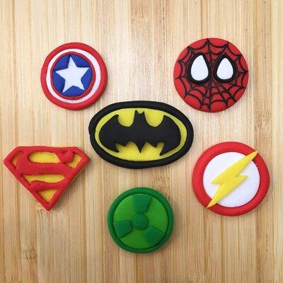 Stemmi Supereroi ideali per decorare bomboniere