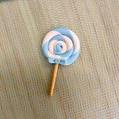 Lecca lecca interamente realizzato a mano in pasta FIMO ideale per decorare le vostre bomboniere
