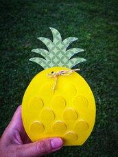Scatola a forma di ananas da assemblare