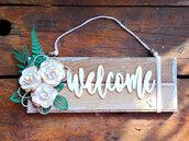 Targa Welcome da appendere, personalizzabile