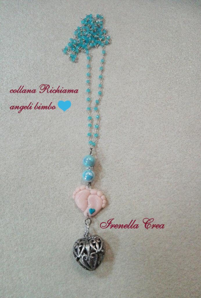 Collane/bracciale Richiama angeli,con campanellino a cuore