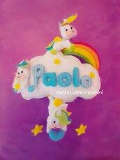 Fiocco Nascita Unicorno Maschetto BOy 🌈