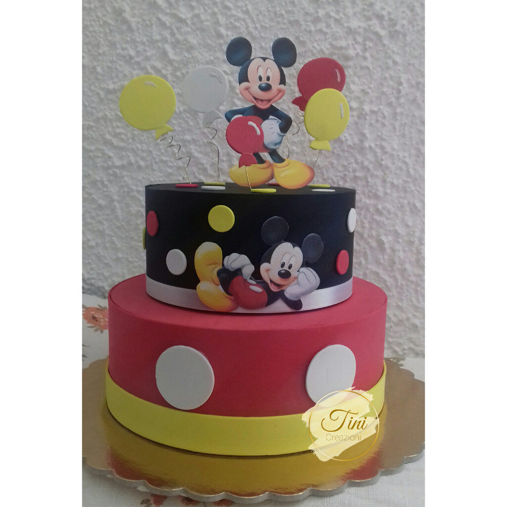Torta scenografica topolino torta finta compleanno festa lol sorprise