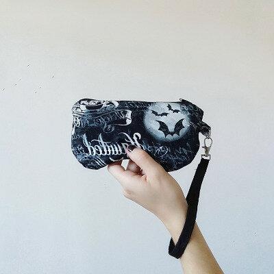 Porta Occhiali con polsino in cotone con fantasia di pozioni e pipistrelli