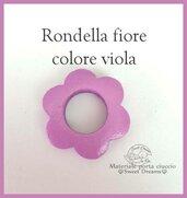 Rondella fiore in legno -Viola-