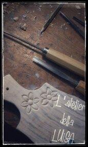 Tagliere in legno di acero al naturale - tagliato e scolpito a mano